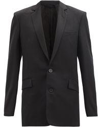Balenciaga ウールシングルジャケット - ブラック