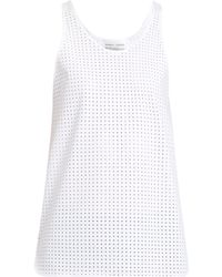Charli Cohen - Optics Perforated Performance Tank Top - Lyst