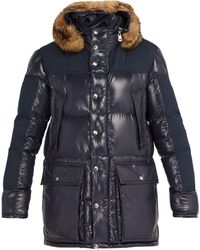 Moncler Frey Hooded Quilted-down Parka - Blue