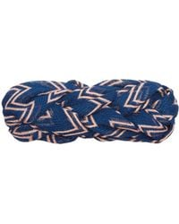 Missoni Plaited Zigzag Mesh Headband - Blue