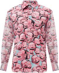 Comme des Garçons - Comme Des Garçons Shirt X Yue Minjun コットンポプリンシャツ - Lyst