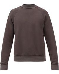 Les Tien ハイネック ブラッシュドバックコットン スウェットシャツ - マルチカラー