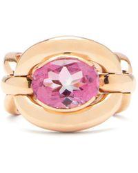 Nadine Aysoy Catena Topaz & 18kt Rose-gold Ring - Multicolour