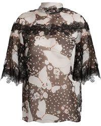 Valentino - Pop Butterflies-print Chiffon Blouse - Lyst