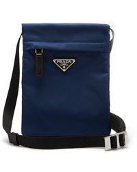 Prada Nylon Cross Body Bag - Blue
