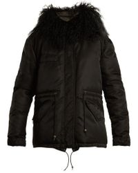 Mr & Mrs Italy - Mongolian Fur-lined Padded Field Jacket - Lyst