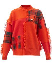 Versace - パッチワーク ウールセーター - Lyst