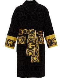 Versace Peignoir coton à jacquard logo I Love Baroque