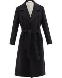 Umit Benan B+ Belted Cashmere Coat - Black