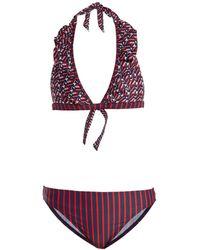 LaDoubleJ - Mikado And Riviera-print Ruffled Bikini - Lyst