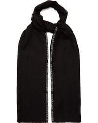 Alexander McQueen - Logo-jacquard Cashmere-blend Scarf - Lyst
