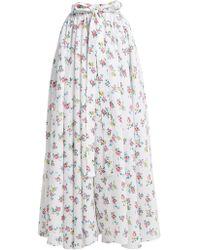 Emilia Wickstead - Evelyn Floral Print Linen Maxi Skirt - Lyst