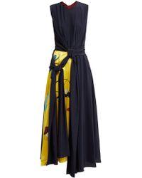 ROKSANDA - Sorka Knotted Contrast Panel Silk Dress - Lyst