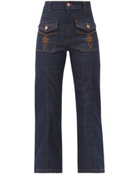 See By Chloé High-rise Flared-leg Jeans - Blue