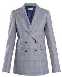 Gabriela Hearst - Angela Checked Wool And Silk-blend Blazer - Lyst