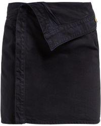 Jacquemus La Mini Asymmetric Denim Skirt - Blue