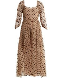 Isa Arfen Ethereal Polka-dot Tulle Dress - Natural