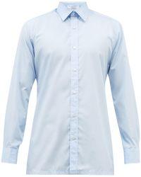 Charvet コットンポプリンシャツ - ブルー