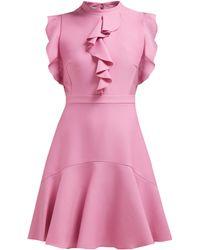 a065cd12fe Giambattista Valli - Sleeveless Ruffle Trimmed Ponte Mini Dress - Lyst