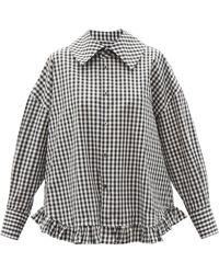 Comme des Garçons Comme Des Garçons Girl ラッフルヘム チェックコットンシャツ - マルチカラー