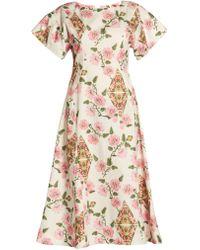 Marni | Floral-print Midi Dress | Lyst
