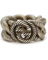 Gucci GG Sterling-silver Ring - Metallic