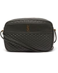 Saint Laurent Victoire Quilted-leather Cross-body Bag - Green