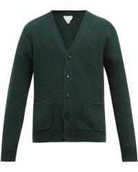 Bottega Veneta V-neck Rib-knitted Wool Cardigan - Green