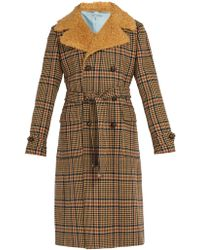Gucci - Checked Double-breasted Coat - Lyst