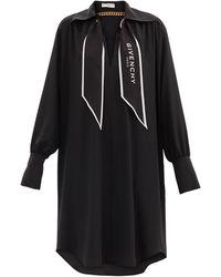 Givenchy Robe-chemise en crêpe de Chine de soie - Noir