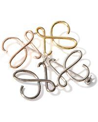 Loewe Anagram Multi-tone Metal Brooch - Metallic
