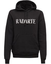 Rodarte Print Fleeceback-jersey Hooded Sweatshirt - Multicolor