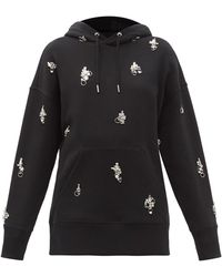 Givenchy Crystal-embellished Cotton Hooded Sweatshirt - Black