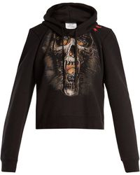 Vetements - Misplaced-shoulder Skull-print Sweatshirt - Lyst