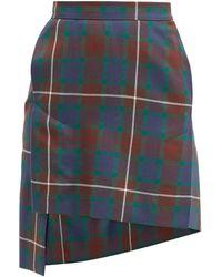 Vivienne Westwood Case Tartan Wool-twill Mini Skirt - Multicolour