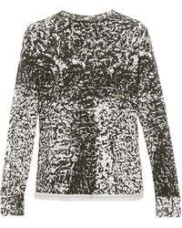 Eckhaus Latta Astrakhan-print Cotton Long-sleeved T-shirt - Black
