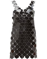 Paco Rabanne Chainmail Hexagonal-sequin Mini Dress - Black