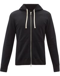 Reigning Champ Zip-through Cotton-jersey Hooded Sweatshirt - Black