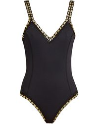 KIINI - Chacha V-neck Crochet-Trim Swimsuit - Lyst