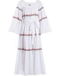 Lisa Marie Fernandez - Ric Rac Trimmed Broderie Anglaise Cotton Dress - Lyst