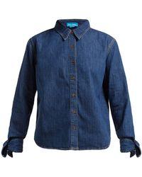 M.i.h Jeans - Larsen Tie Sleeve Denim Shirt - Lyst