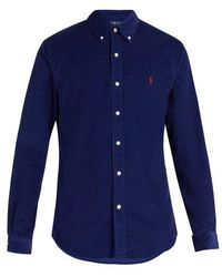 Polo Ralph Lauren - Logo-embroidered Cotton-corduroy Shirt - Lyst