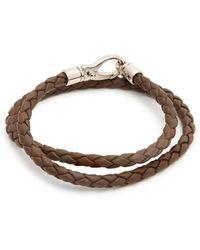 Tod's - Bracelet en cuir tressé - Lyst