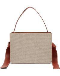 Montunas Guaria Linen & Leather Box Bag - Natural