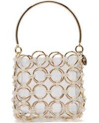 Rosantica Joplin Beaded Metal-ring Clutch Bag - Metallic