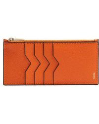 Valextra - Vertical Grained-leather Cardholder - Lyst