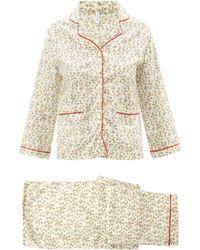 Domi Floral-print Organic-cotton Pajamas - Multicolor