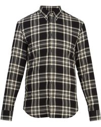 Maison Margiela - Point-collar Checked Cotton Shirt - Lyst