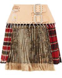 Chopova Lowena Tartan Recycled-tapestry Mini Skirt - Multicolor