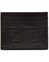 Fendi - Logo-embossed Leather Card Holder - Lyst